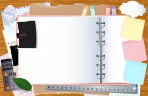 vector-template-with-navigation-buttons-opened-notebook-on-desktop_MyNddxvu