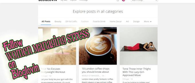 Follow Women Managing Stress on Bloglovin