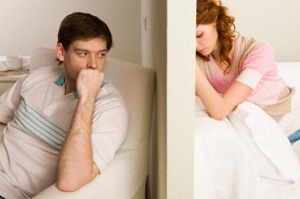 couple feeling frustration