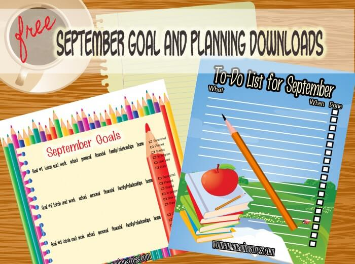 September Goals Download