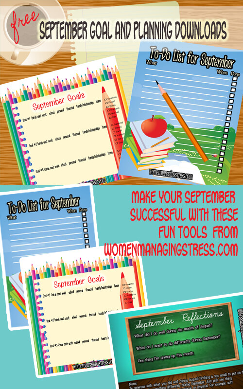 Stress-free Goal Planning Downloads for September