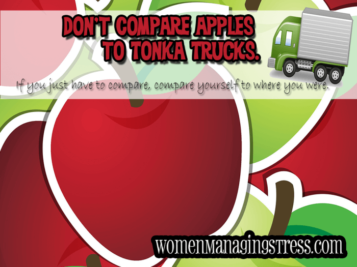 dont compare apples and tonka trucks S