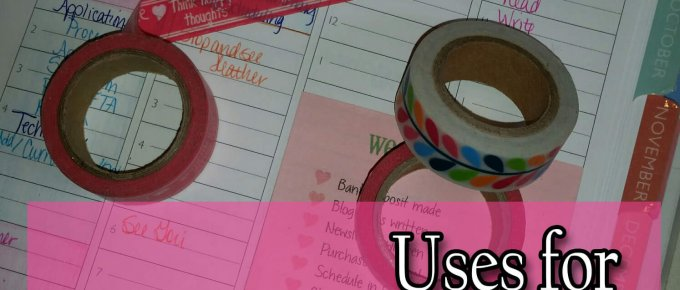 Uses for Washi Tape that Lower Your Stress