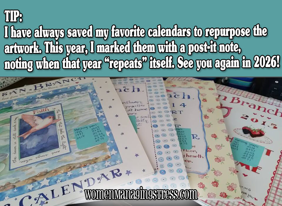 When to Reuse Your Old Calendars