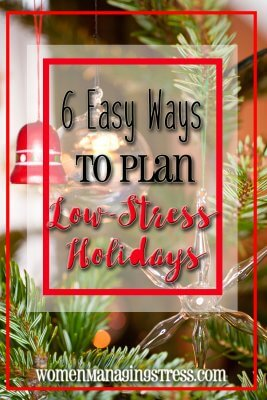 how to plan low stress holidays